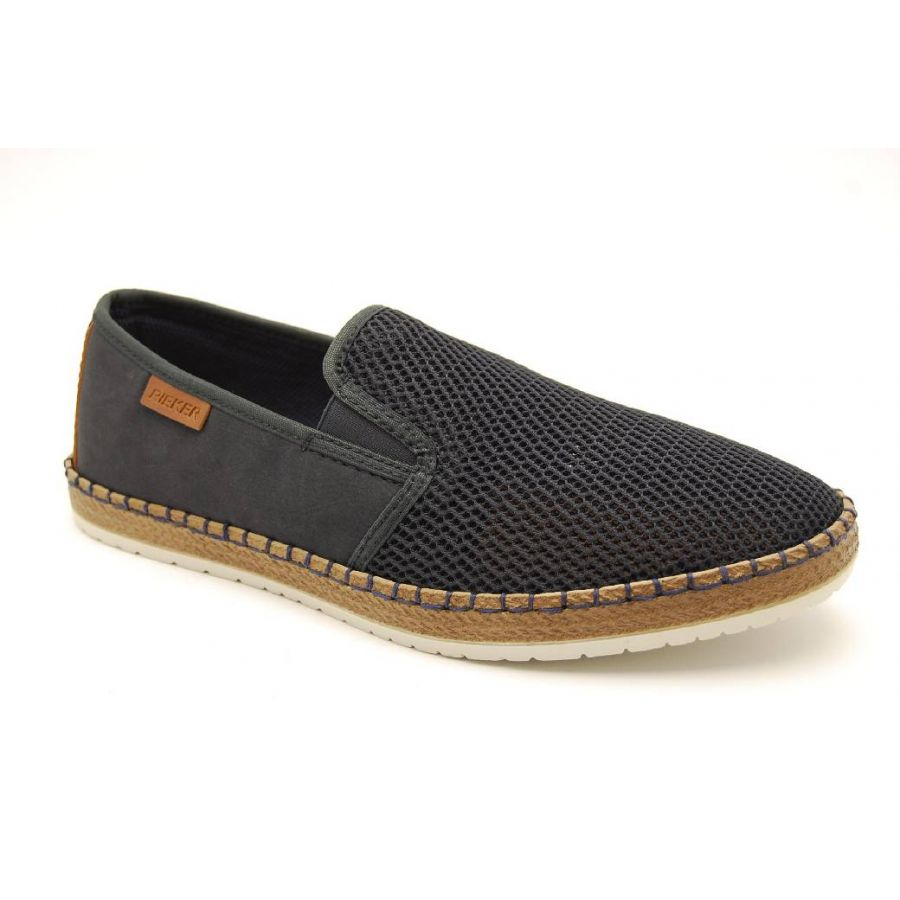 RIEKER navy textil slipon