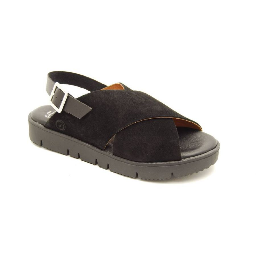 EFFORT LESS svart sandal