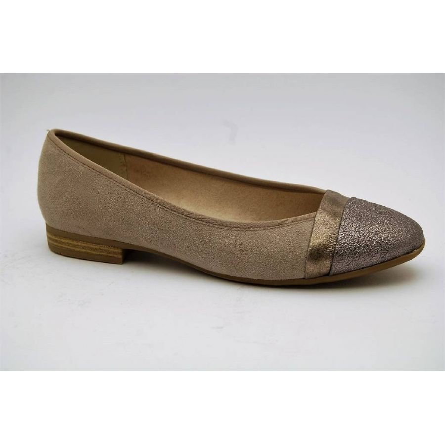 SOFT LINE taupe ballerina