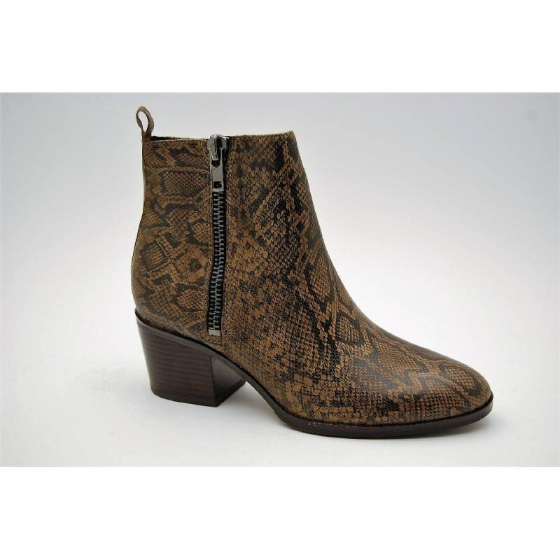 CAPRICE taupe snake boots