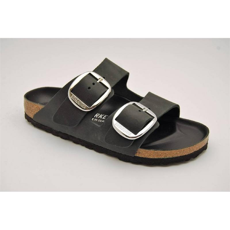 BIRKENSTOCK svart BIG BUCKLE